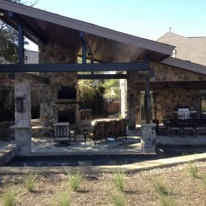 traditions pools & landscape bryan college station texas - outdoor patio & kitchen construction project 6