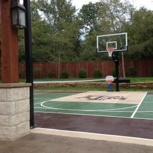 traditions pools & landscape bryan college station texas - tennis court & basketball court construction project 6