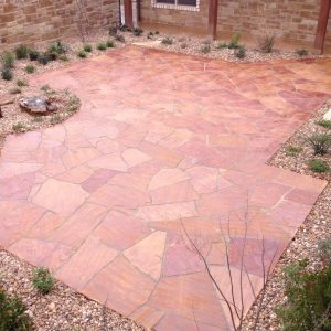 traditions pools & landscape bryan college station texas - rock patio construction project 6