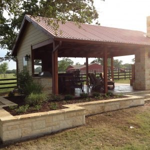 traditions pools & landscape bryan college station texas - outdoor cabana patio construction project 6