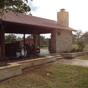 traditions pools & landscape bryan college station texas - outdoor cabana patio construction project 5