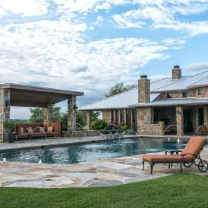 traditions pools & landscape bryan college station texas - swimming pool construction with outdoor patio