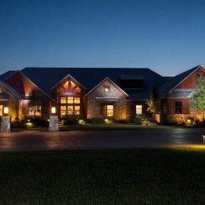traditions pools & landscape bryan college station texas - elegant landscape lighting