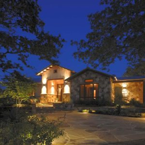 traditions pools & landscape bryan college station texas - landscaping with elegant night lighting