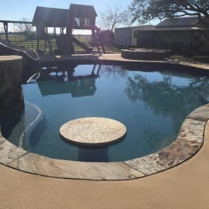 traditions pools & landscape bryan college station texas - pool sidewalks