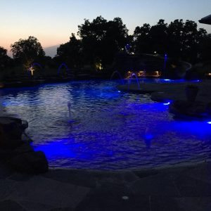 traditions pools & landscape bryan college station texas - elegant pool lighting