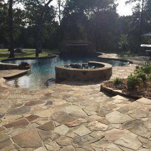 traditions pools & landscape bryan college station texas - in ground pool with jacuzzi