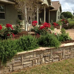 traditions pools & landscape bryan college station texas - custom landscaping design & flowerbeds